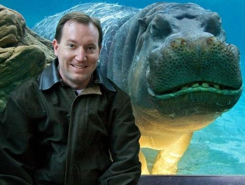 """Me and my hippo"""