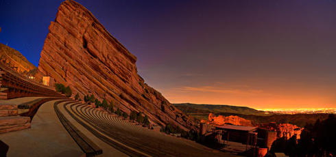 """Red rocks at night"""
